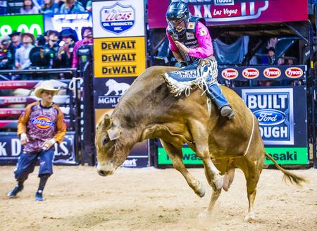 finals: LAS VEGAS - OCT 24 : Cowboy Participating in the PBR bull riding world finals. The bull riding world championship held in Las Vegas Nevada on October 24 2015