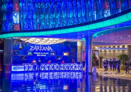 soleil: LAS VEGAS - DEC 18 : Zarkana at the Aria hotel in Las Vegas on December 18 2015.  Zarkana is a Cirque du Soleil stage production written and directed by François Girard. Editorial