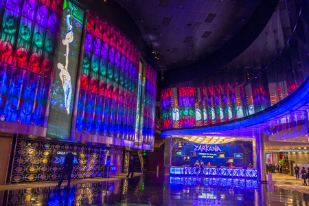 cirque du soleil: LAS VEGAS - DEC 18 : Zarkana at the Aria hotel in Las Vegas on December 18 2015.  Zarkana is a Cirque du Soleil stage production written and directed by François Girard.