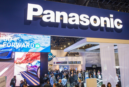 LAS VEGAS - JAN 06 : The Panasonic booth at the CES show held in Las Vegas on January 06 2016 , CES is the world's leading consumer-electronics show.