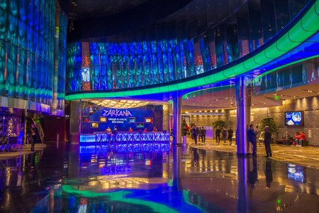 aria: LAS VEGAS - DEC 18 : Zarkana at the Aria hotel in Las Vegas on December 18 2015.  Zarkana is a Cirque du Soleil stage production written and directed by François Girard. Editorial
