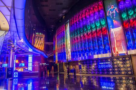 cirque du soleil: LAS VEGAS - DEC 18 : Zarkana at the Aria hotel in Las Vegas on December 18 2015.  Zarkana is a Cirque du Soleil stage production written and directed by François Girard. Editorial
