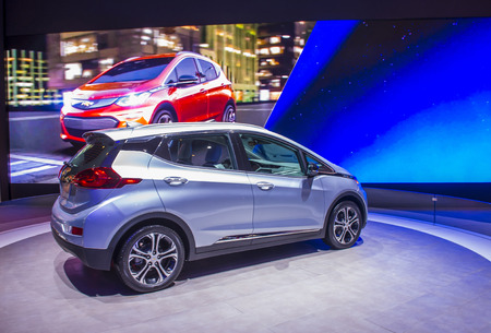 LAS VEGAS - JAN 08 : Chevrolet Bolt at the CES Show in Las Vegas, Navada, on January 08, 2016. CES is the world's leading consumer-electronics show.