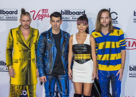 whittle: LAS VEGAS - MAY 22 : (L-R) recording artists Cole Whittle, Joe Jonas, JinJoo Lee and Jack Lawless of DNCE poses in the press room at the 2016 Billboard Music Award on May 22, 2016 in Las Vegas