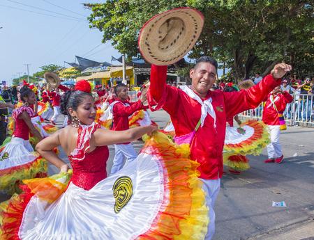 BARRANQUILLA, COLOMBIA - Feb 07: Los participantes en el Carnaval de Barranquilla en Barranquilla, Colombia el día 07 Febrero 2016. Carnaval de Barranquilla es uno de los más grandes del carnaval en el mundo Foto de archivo - 58092722