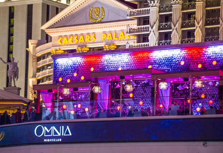 discoteque: LAS VEGAS - APRIL 13 : The Omnia Night club in Ceasars palace hotel in Las Vegas on April 13 2016. The multi-leve , 75,000-square-foot venue opend in 2015