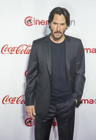LAS VEGAS - APRIL 14 : Actor Keanu Reeves, recipient of the Vanguard Award, attends the CinemaCon Big Screen Achievement Awards at The Caesars Palace on April 14 2016 in Las Vegas Sajtókép