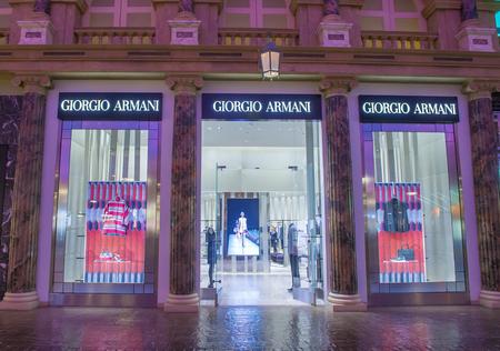 caesars palace: LAS VEGAS - APRIL 13 : Exterior of an Armani store in Caesars Palace hotel in Las Vegas on April 13 , 2016. Armani is an Italian luxury fashion house founded by Giorgio Armani.