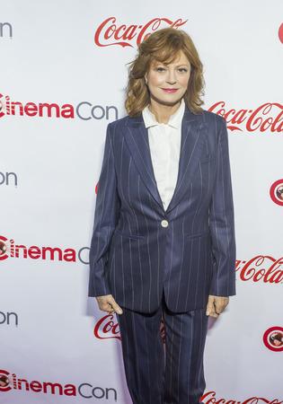 recipient: LAS VEGAS - APRIL 14 : Actress Susan Sarandon, recipient of the Cinema Icon Award, attends the CinemaCon Big Screen Achievement Awards at The Caesars Palace on April 14 2016 in Las Vegas