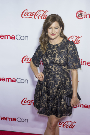 caesars palace: LAS VEGAS - APRIL 14 : Actress Kathryn Hahn, one of the recipients of the Female Stars of the Year Award, attends the CinemaCon Big Screen Achievement Awards at The Caesars Palace on April 14 2016 in Las Vegas Editorial