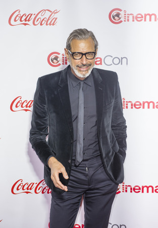 arts culture and entertainment: LAS VEGAS - APRIL 14 : Actor Jeff Goldblum attends the CinemaCon Big Screen Achievement Awards at The Caesars Palace on April 14 2016 in Las Vegas Editorial