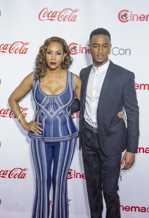 usher: LAS VEGAS - APRIL 14 : Actress Vivica A. Fox (L) and actor Jessie Usher attends the CinemaCon Big Screen Achievement Awards at The Caesars Palace on April 14 2016 in Las Vegas