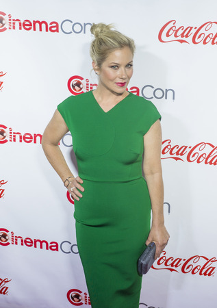 big screen: LAS VEGAS - APRIL 14 : Actress Christina Applegate, one of the recipients of the Female Stars of the Year Award, attends the CinemaCon Big Screen Achievement Awards at The Caesars Palace on April 14 2016 in Las Vegas