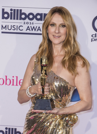 recipient: LAS VEGAS - MAY 22 : Honoree Celine Dion, recipient of the Icon Award poses in the press room at the 2016 Billboard Music Awards on May 22, 2016 in Las Vegas