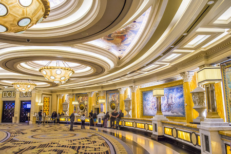caesars palace: LAS VEGAS - April 13 : The Caesars Palace hotel and casino interior on April 13, 2016 in Las Vegas. Caesars Palace is a luxury hotel and casino located on the Las Vegas Strip. Caesars has 3,348 rooms in five towers