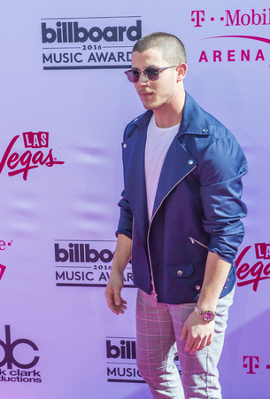 nick: LAS VEGAS - MAY 22 : Recording artist Nick Jonas attends the 2016 Billboard Music Awards at T-Mobile Arena on May 22, 2016 in Las Vegas, Nevada.