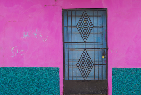 spaniards: SUCHITOTO , EL SALVADOR - MAY 07 : Architectural details in Suchitoto El Salvador on May 07 2016. the colonial town of Suchitoto built by the Spaniards in the 18th century
