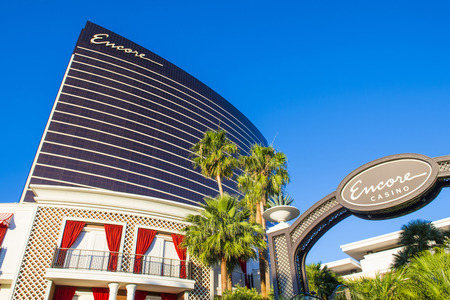 LAS VEGAS - May 21 : The Encore Hotel and casino on May 21 2016 in Las Vegas. The hotel has 2,716 rooms and opened in 2005. Editorial