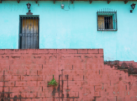 SUCHITOTO , EL SALVADOR - MAY 07 : Architectural details in Suchitoto El Salvador on May 07 2016. the colonial town of Suchitoto built by the Spaniards in the 18th century