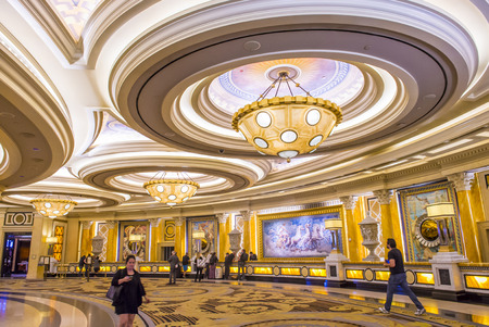 LAS VEGAS - April 13 : The Caesars Palace hotel and casino interior on April 13, 2016 in Las Vegas. Caesars Palace is a luxury hotel and casino located on the Las Vegas Strip. Caesars has 3,348 rooms in five towers
