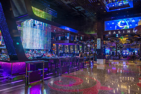 LAS VEGAS - APRIL 13 : The Cosmopolitan hotel casino interior in Las Vegas on April 13 2016. The Cosmopolitan opened in 2010 and it has 2,995 rooms and 75,000 sq ft casino. Editorial