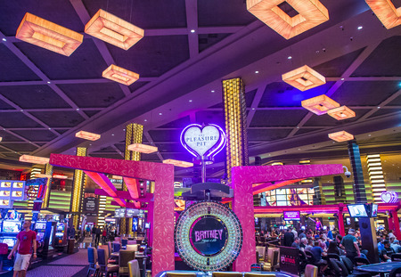 LAS VEGAS - APRIL 13 : The Planet Hollywood casino in Las Vegas on April 13 2016. Planet Hollywood has over 2,500 rooms available and it located on Las Vegas Boulevard. Editorial