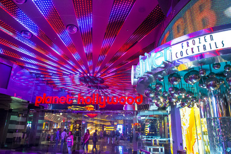 LAS VEGAS - APRIL 13 : Planet Hollywood Resort and Casino in Las Vegas on April 13 2016. Planet Hollywood has over 2,500 rooms available and it located on Las Vegas Boulevard. Editorial