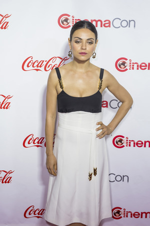caesars palace: LAS VEGAS - APRIL 14 : Actress Mila Kunis, one of the recipients of the Female Stars of the Year Award, attends the CinemaCon Big Screen Achievement Awards at The Caesars Palace on April 14 2016 in Las Vegas Editorial