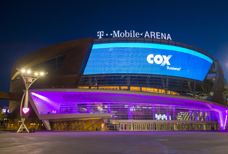 nv: LAS VEGAS - JUNE 14 : The T-Mobile arena in Las Vegas on June 14 2016.  The arena is located west of the Las Vegas Strip and has 20,000 seat capacity Editorial