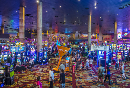 LAS VEGAS - JUNE 14 : The interior of New York-New York Hotel & Casino in Las Vegas on June 14 , 2016. This hotel simulates the real New York City street and It was opened in 1997.