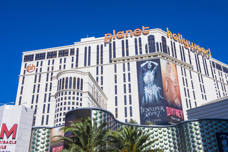 LAS VEGAS - MAY 21 : Planet Hollywood Resort and Casino in Las Vegas on May 21 2016. Planet Hollywood has over 2,500 rooms available and it located on Las Vegas Boulevard.