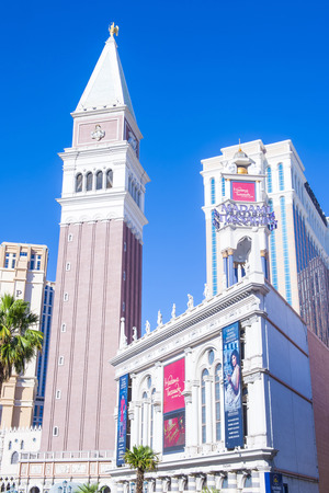 LAS VEGAS - MAY 21 : Exterior of the Madame Tussauds museum in Las Vegas on May 21 2016 , The two-floor 30,000-square-foot museum has 100-plus wax replicas.