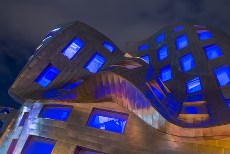 lou: LAS VEGAS - JUNE 18 : The Cleveland Clinic Lou Ruvo Center for Brain Health in downtown Las Vegas Nevada on June 18 2016 , the modern building designed by the architect Frank Gehry