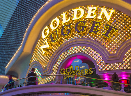 LAS VEGAS - JUNE 18 : The Golden Nugget hotel and casino in downtown Las Vegas on June 18, 2016. Golden Nugget is the largest hotel in the downtown area, with a total of 2,345 rooms.