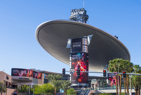 LAS VEGAS - MAY 21 : The Fashion Show mall in Las Vegas strip on May 21 , 2016. The Fashion Show is one of the largest malls in the world with more than 250 stores Editorial