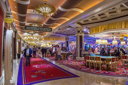 nv: LAS VEGAS - MAY 21 : The interior of Wynn Hotel and casino on May 21, 2016 in Las Vegas. The hotel has 2,716 rooms and opened in 2005. Editorial