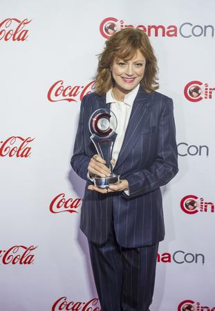 caesars palace: LAS VEGAS - APRIL 14 : Actress Susan Sarandon, recipient of the Cinema Icon Award, attends the CinemaCon Big Screen Achievement Awards at The Caesars Palace on April 14 2016 in Las Vegas