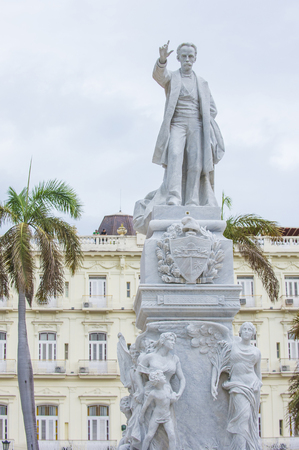 HAVANA, CUBA - JULY 18 : The Jose Marti monument in the Central Park of Havana on July 18 2016.  Jose Marti is a Cuban national hero