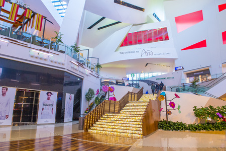 LAS VEGAS - MAY 21 : The Crystals mall in Las Vegas strip on May 21 , 2016. Crystals offers 500,000 sq ft of retail space, including gourmet restaurants, shops and galleries. Editorial
