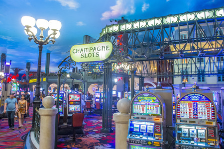 nv: LAS VEGAS - JUNE 22 : The interior of Paris hotel and casino on June 22 2016 in Las Vegas, Nevada,  The Paris hotel opened in 1999 and features a replica of the Eiffel Tower.