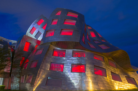 LAS VEGAS - JUNE 18 : The Cleveland Clinic Lou Ruvo Center for Brain Health in downtown Las Vegas Nevada on June 18 2016 , the modern building designed by the architect Frank Gehry
