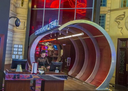 LAS VEGAS - JUNE 22 : The Gordon Ramsay restaurant in Paris hotel in Las Vegas on June 22 2016. Gordon Ramsay is British chef and restaurateur his restaurants have been awarded 16 Michelin stars
