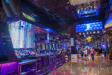 nv: LAS VEGAS - APRIL 13 : The Cosmopolitan hotel casino interior in Las Vegas on April 13 2016. The Cosmopolitan opened in 2010 and it has 2,995 rooms and 75,000 sq ft casino. Editorial