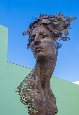 sculptor: HAVANA, CUBA - JULY 18 : The Primavera statue in Havana Cuba on July 18 2016. The statue was created by sculptor Rafael San Juan