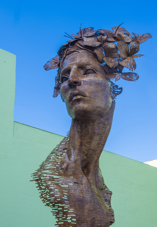 HAVANA, CUBA - JULY 18 : The Primavera statue in Havana Cuba on July 18 2016. The statue was created by sculptor Rafael San Juan