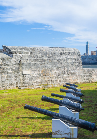 spaniards: HAVANA , CUBA - JULY 18 : The Morro castle in Havana, Cuba on July 18 2016. The castle was built by the Spaniards in the years 1589 to 1630