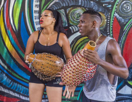 rumba: HAVANA, CUBA - JULY 18 : Rumba musicians in Havana Cuba on July 18 2016. Rumba is a secular genre of Cuban music involving dance, percussion, and song. It originated in the northern regions of Cuba
