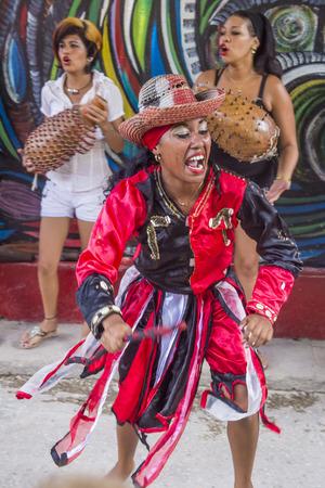 rumba: HAVANA, CUBA - JULY 18 : Rumba dancers in Havana Cuba on July 18 2016. Rumba is a secular genre of Cuban music involving dance, percussion, and song. It originated in the northern regions of Cuba Editorial
