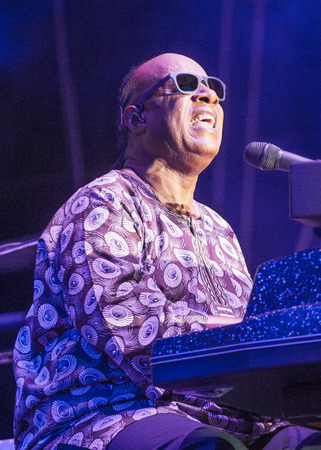 onstage: Musician Stevie Wonder performs onstage during day 1 of the 2015 Life Is Beautiful Festival on September 25, 2015 in Las Vegas, Nevada. Editorial