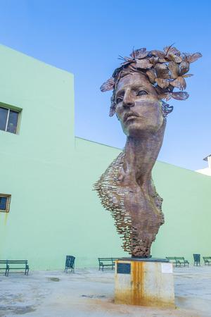 primavera: HAVANA, CUBA - JULY 18 : The Primavera statue in Havana Cuba on July 18 2016. The statue was created by sculptor Rafael San Juan